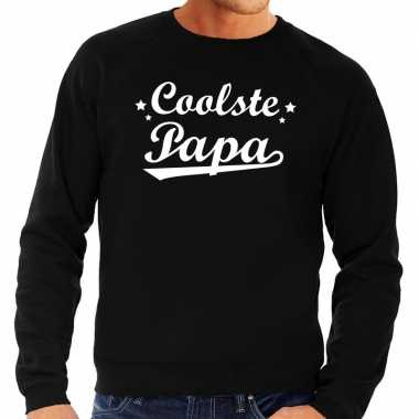 Coolste papa cadeau sweater zwart voor heren