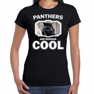 Dieren zwarte panter t-shirt zwart dames - panthers are cool shirt