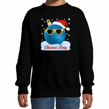 Foute kersttrui / sweater coole kerstbal zwart voor jongens