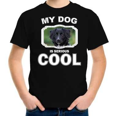 Friese stabij honden t-shirt my dog is serious cool zwart voor kinderen
