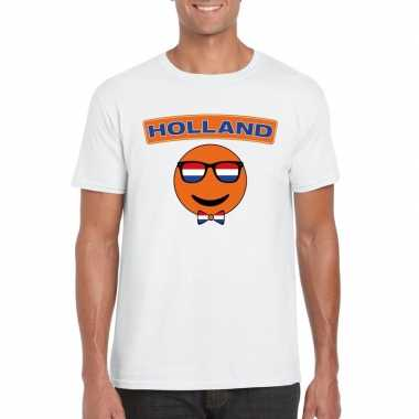 Holland coole smiley t-shirt wit heren