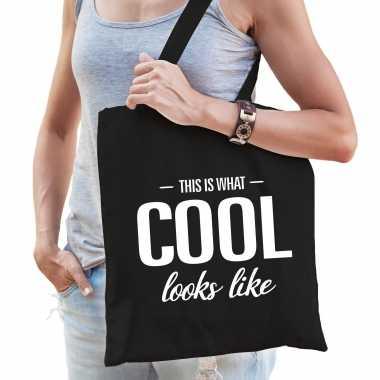 This is what cool looks like cadeau tas zwart voor dames