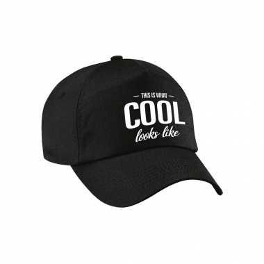 This is what cool looks like pet / cap zwart voor dames en heren