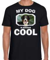 Berner sennen honden t shirt my dog is serious cool zwart voor heren 10254030