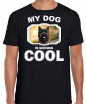 Cairn terrier honden t shirt my dog is serious cool zwart voor heren 10254028