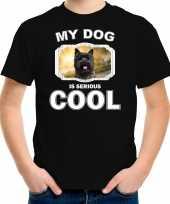 Cairn terrier honden t shirt my dog is serious cool zwart voor kinderen 10256729