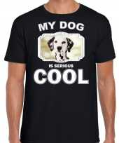 Dalmatier honden t shirt my dog is serious cool zwart voor heren 10254015