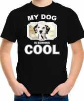 Dalmatier honden t-shirt my dog is serious cool zwart voor kinderen 10256716