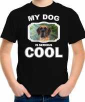 Deense dog honden t shirt my dog is serious cool zwart voor kinderen