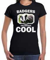 Dieren das t shirt zwart dames badgers are cool shirt