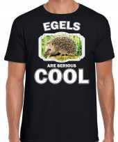 Dieren egel t shirt zwart heren egels are cool shirt