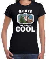 Dieren geit t shirt zwart dames goats are cool shirt