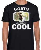 Dieren gevlekte geit t shirt zwart heren goats are cool shirt