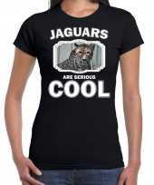 Dieren gevlekte jaguar t shirt zwart dames jaguars are cool shirt
