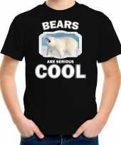 Dieren grote ijsbeer t shirt zwart kinderen bears are cool shirt jongens en meisjes