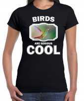 Dieren kolibrie vogel t shirt zwart dames birds are cool shirt
