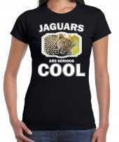 Dieren luipaard t shirt zwart dames jaguars are cool shirt
