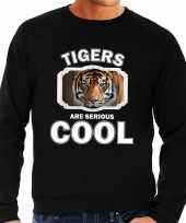 Dieren tijger sweater zwart heren tigers are cool trui