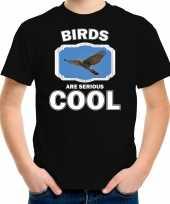 Dieren vliegende havik roofvogel t shirt zwart kinderen birds are cool shirt jongens en meisjes
