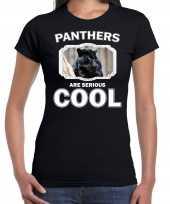 Dieren zwarte panter t shirt zwart dames panthers are cool shirt