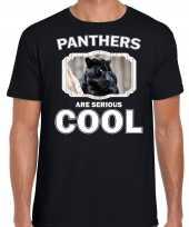 Dieren zwarte panter t shirt zwart heren panthers are cool shirt