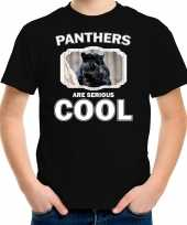 Dieren zwarte panter t shirt zwart kinderen panthers are cool shirt jongens en meisjes