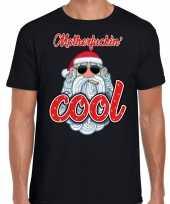 Fout kerst shirt stoere kerstman motherfucking cool zwart heren