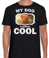 Franse mastiff honden t shirt my dog is serious cool zwart voor heren 10254027