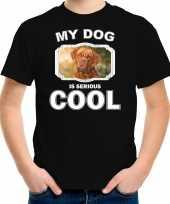 Franse mastiff honden t-shirt my dog is serious cool zwart voor kinderen 10256728