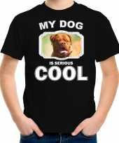 Franse mastiff honden t shirt my dog is serious cool zwart voor kinderen