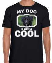 Friese stabij honden t shirt my dog is serious cool zwart voor heren