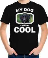 Friese stabij honden t shirt my dog is serious cool zwart voor kinderen