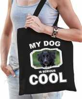 Friese stabij honden tasje zwart volwassenen en kinderen my dog serious is cool kado boodschappent