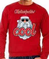 Grote maten kersttrui kerstman motherfucking cool rood heren