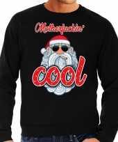 Grote maten kersttrui kerstman motherfucking cool zwart heren