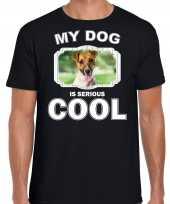 Jack russel honden t shirt my dog is serious cool zwart voor heren 10254023
