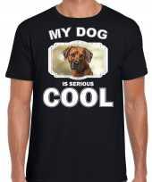 Rhodesische pronkrug honden t shirt my dog is serious cool zwart voor heren 10254020