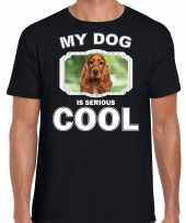 Spaniel honden t shirt my dog is serious cool zwart voor heren