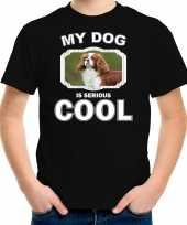 Spaniel honden t shirt my dog is serious cool zwart voor kinderen 10256726