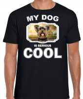 Yorkshire terrier honden t shirt my dog is serious cool zwart voor heren 10254017