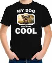 Yorkshire terrier honden t shirt my dog is serious cool zwart voor kinderen 10256718